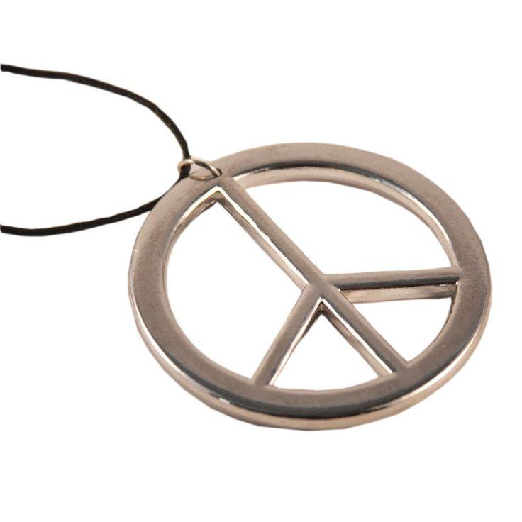 Peace Kette Hippie Peace Anhänger Flower Power 70er Jahre in Feierlichkeiten / Anlässe   • Karneval Fasching Party • Schmuck