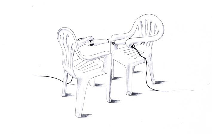 Plastic Chair Sculptures