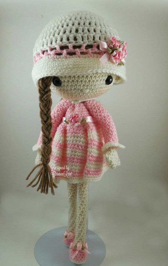 ATTENTION - Keep in mind that this is a crochet pattern in a PDF. This is NOT the finished product. April is approximately 17 inches tall. Also, please keep in mind that this doll cannot stand up on its own. This is a non-refundable purchase. Once the payment has been confirmed you will be allowed to download the pattern in a PDF. The language in the pattern is in English and Spanish only. The pattern includes all of the yarn colors I used for the doll, however, you are free to experiment…
