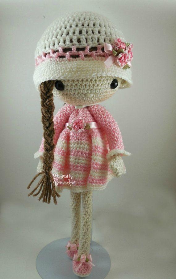 April Amigurumi Doll Crochet Pattern PDF by CarmenRent on Etsy ♡ lovely doll