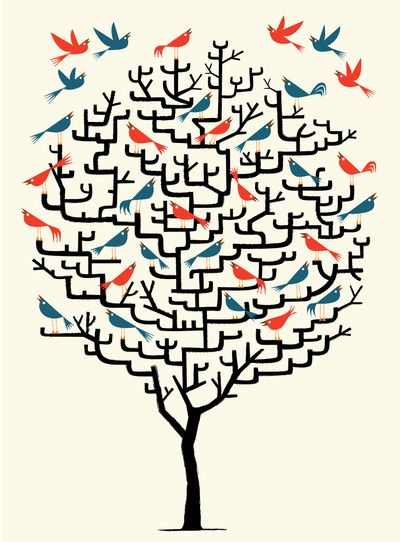 Out On a Lark by Oliver Lake: Crosses Stitches Patterns, Animal Illustrations, Olives Lakes, Art Prints, Graphics, Trees Design, Families Trees, Birds, Paper Crowns