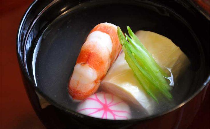 生小巻ゆばのお吸い物(レシピ)