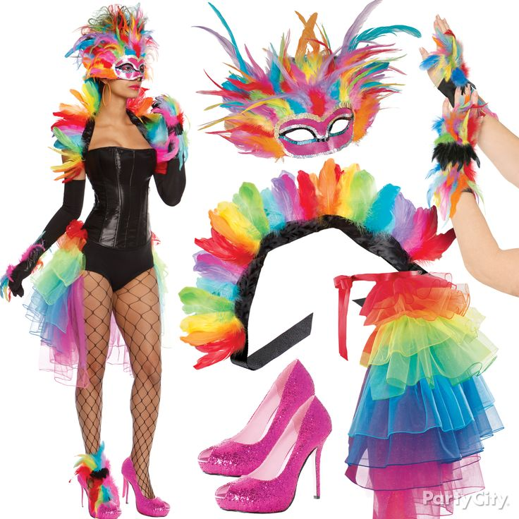 Be ravishing! Steal the spotlight as a Rainbow Bird in a colorful spectrum of feathers, glitter, tulle and sequins. Mix and match your own look - all eyes will be on you! #BeACharacter