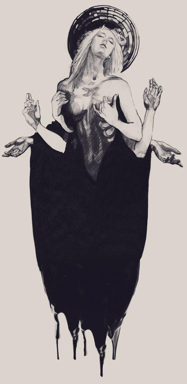 ARCHETYPE by Dasha Plishka #illustration #drawing #dark