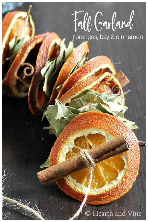 How To Make A Fragrant Dried Orange Garland Home Garden Diy Diy Christmas Garland Fall Decor Diy Crafts Dried Orange Slices