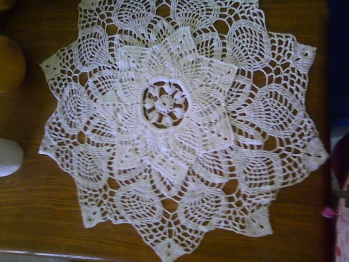 Mantel tejido a crochet | manteles y tapetes | Pinterest
