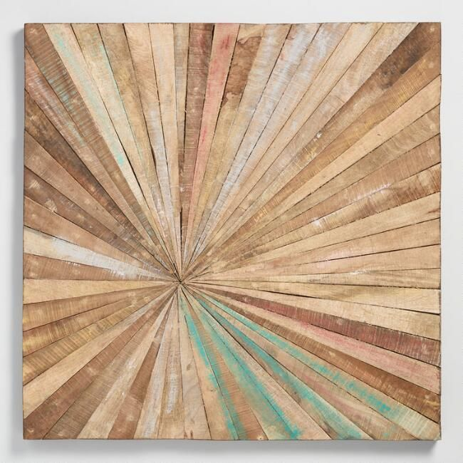 We could do two of these $300 total Antiqued Sunburst Wood Panel Wall Decor - v1