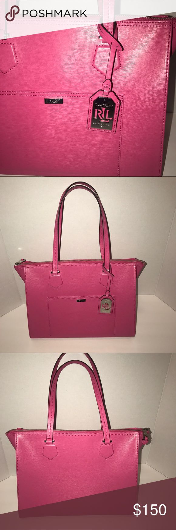 Lauren Ralph Lauren tote Pink Lauren Ralph Lauren bag, in Excellent condition ! Only used twice. Lauren Ralph Lauren Bags Totes
