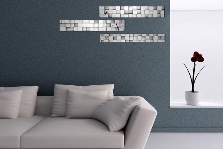 Interior Wall Clock Brick Home Decor, Modern Luxury 3pcs Framed Wall Art   #LEMONART #ArtDeco