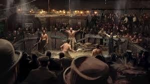 A fight pit