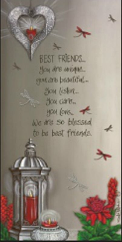 BEST FRIENDS Wall affirmation Canvas  Lights up LED  Lantern beautiful Gift