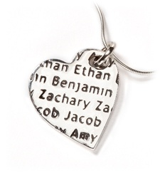 Tribes heart pendant on snake chain by Smallprint. www.smallprint.co.za