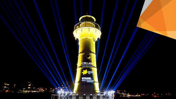 CMG AV lights up the Stars.  Reports of bright lights throughout the Illawarra flooded through on Friday evening as CMG Audio Visual lit up the night sky to put the spotlight on the Cancer Council NSW Southern Region and the Stars of Wollongong Dance for Cancer.  Find out more:  bit.ly/lightupthestars  #visitwollongong #wollongongharbour #wollongonglighthouse #wollongong #harbour #bright #lights #audiovisual #lighting #projection #laser #lightshow #cancercouncil #ccnsw