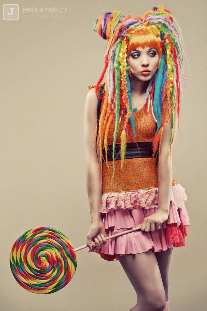 cuuutttteeee! rainbow dreads
