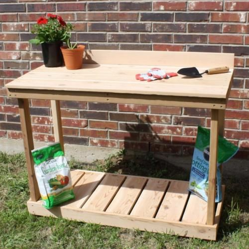 NEW-5-FOOT-TRADITIONAL-CEDAR-POTTING-BENCH-GARDENING-PLANT-BENCHES