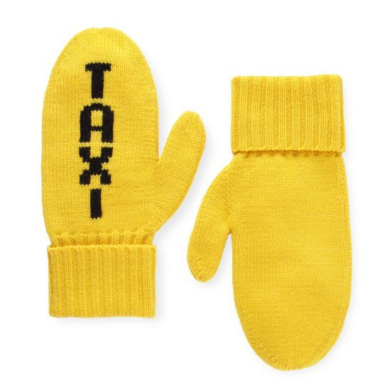 For NYC travellers! Taxi mittens from Kate Spade