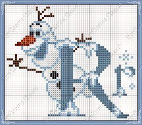 Pontinhos Mágicos: Monograma Frozen+gráficos com frases do Olaf!!!