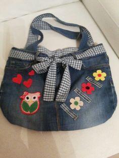 Taschenherstellung von alten Jeans