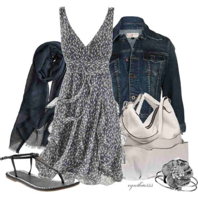 Gray and white from Polyvore