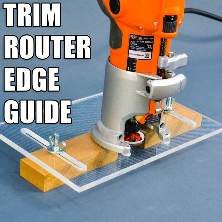 How to Make a Trim Router Edge Guide Jig (Palm Router Edge Guide). #woodworking #diy #powertools