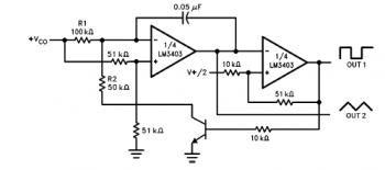 LM3403 3303 Voltage Controlled Oscillator Circuit