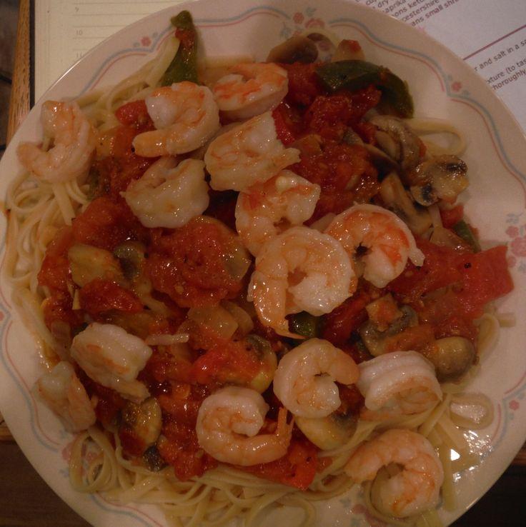 Olive Garden shrimp primavera