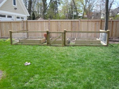 Keepin' the Critters Out: nice looking chicken wire garden fence