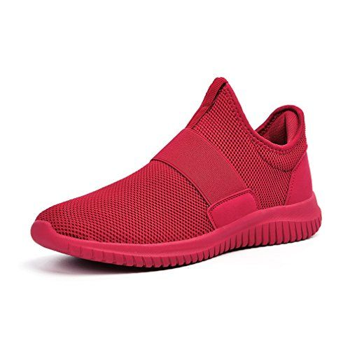 6f7a5b21f09 Special Offers - Troadlop Mens Mesh Shoes Gym Tennis Wide Running Sneakers  Red for Boys Size