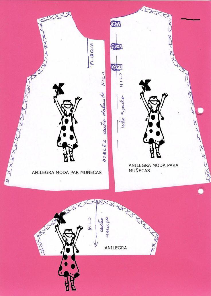 Como a más de una le da un poco de miedo esto de cotar y coser os he preparado un patrón y un tutorial para hacer este vestido a NANCY ...