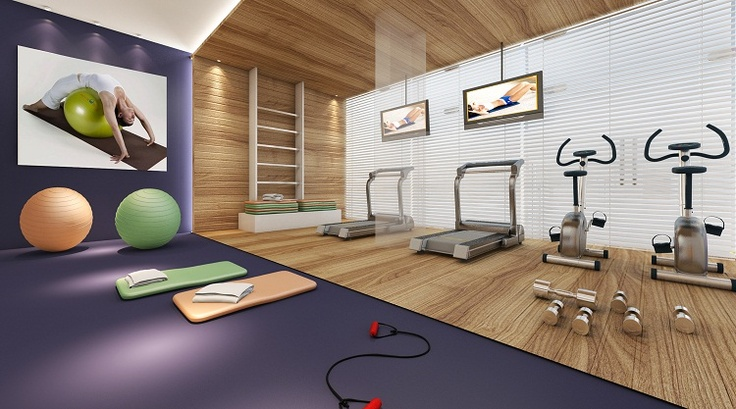 Fitness Center - Material Wrapping effect