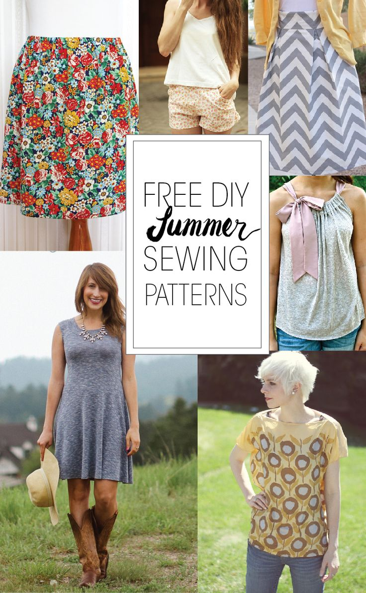 Free DIY Summer Sewing Patterns | Best Free Online PDF Sewing Patterns | Downloadable Sewing Patterns