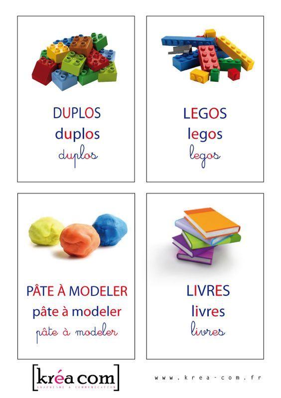 Etiquettes pour caisse a jouets - inspiration montessori http://krea-com.fr/etiquettes-de-jouets-methode-montessori/