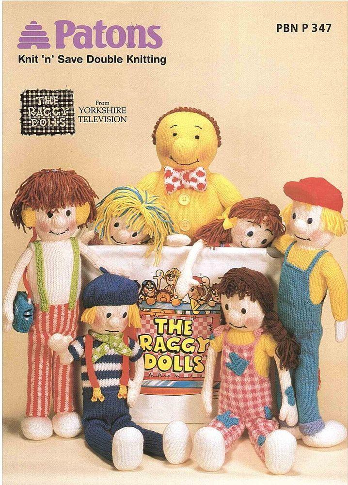 Patons The Raggy Dolls Dk Knitting Pattern Book Pbn P 347