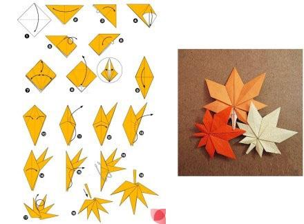 Origami leaves (maple tree)