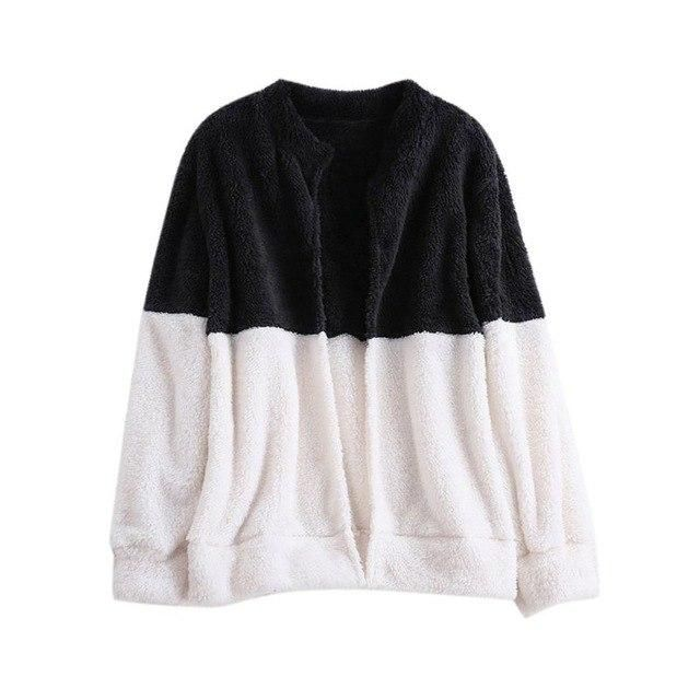 1Pc Women Zipper Double-Faced Wool Coats Long Sleeve Plus Size Warm Winter Coats Outerwears B L