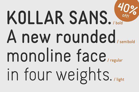 Kollar Sans - 40% off! by seven/eight on @creativemarket