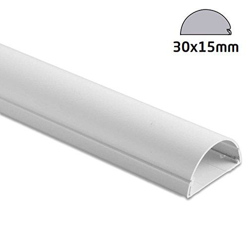 From 9.99:D-line R5ft3015w 1.5 Meter (5 Ft) Length In 1 Piece 30 X 15 Cable Wire Cover Trunking To Hide Cables  White