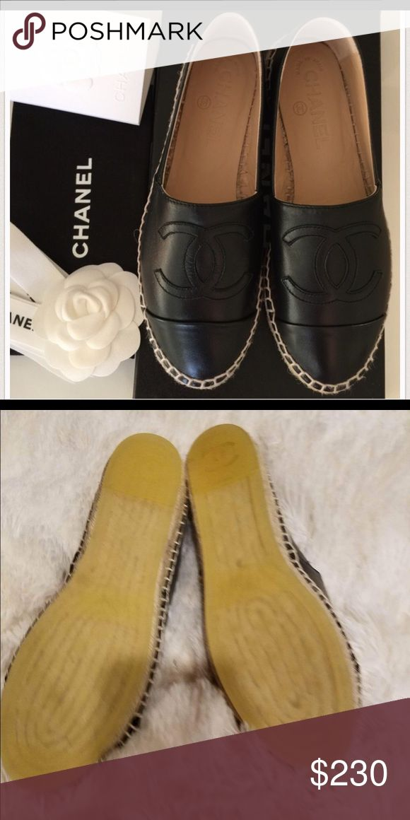 Chanel Espadrilles Black brand new espadrilles price reflectd auth. Leather CHANEL Shoes Espadrilles