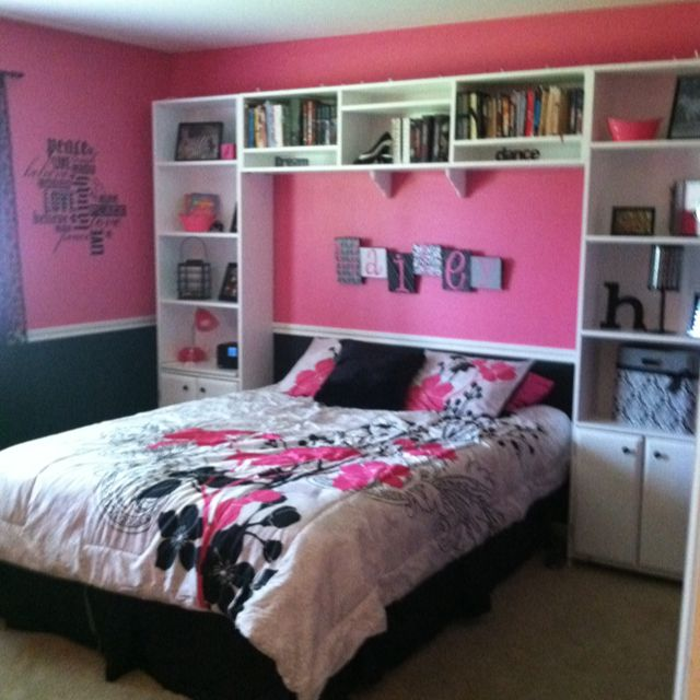 17 best images about pink and black bedrooms on pinterest for Bedroom designs pink and black