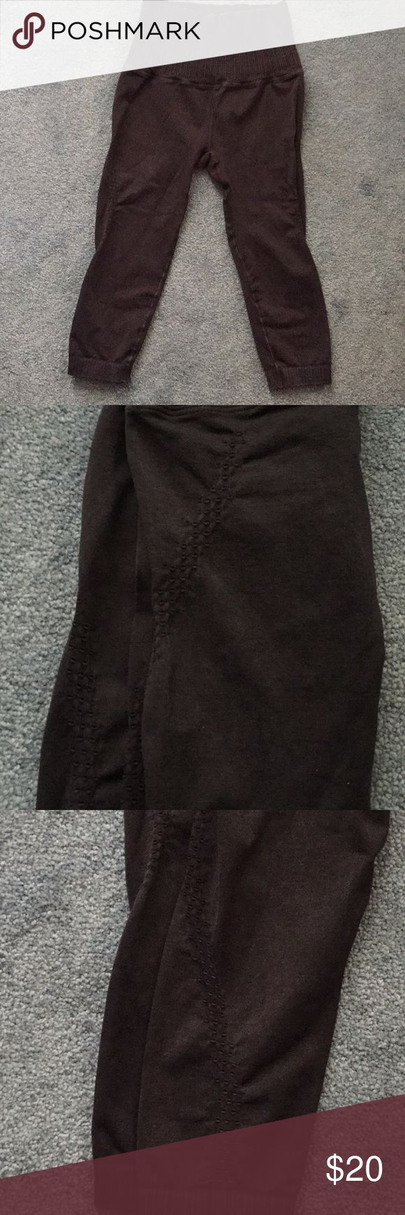 NWOT Free People long shorts Dusty gray color with pin hole trim on the shorts f…