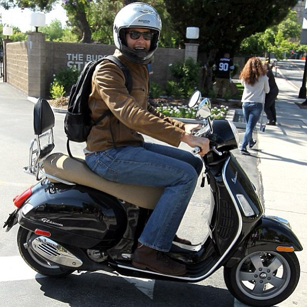 Armie Hammer has a vespa! As if his good looks weren't reason enough to love him!