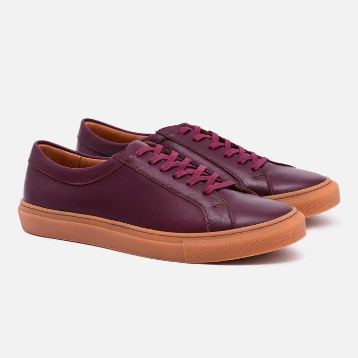 Alba Low Top Sneakers - Burgundy x Gum