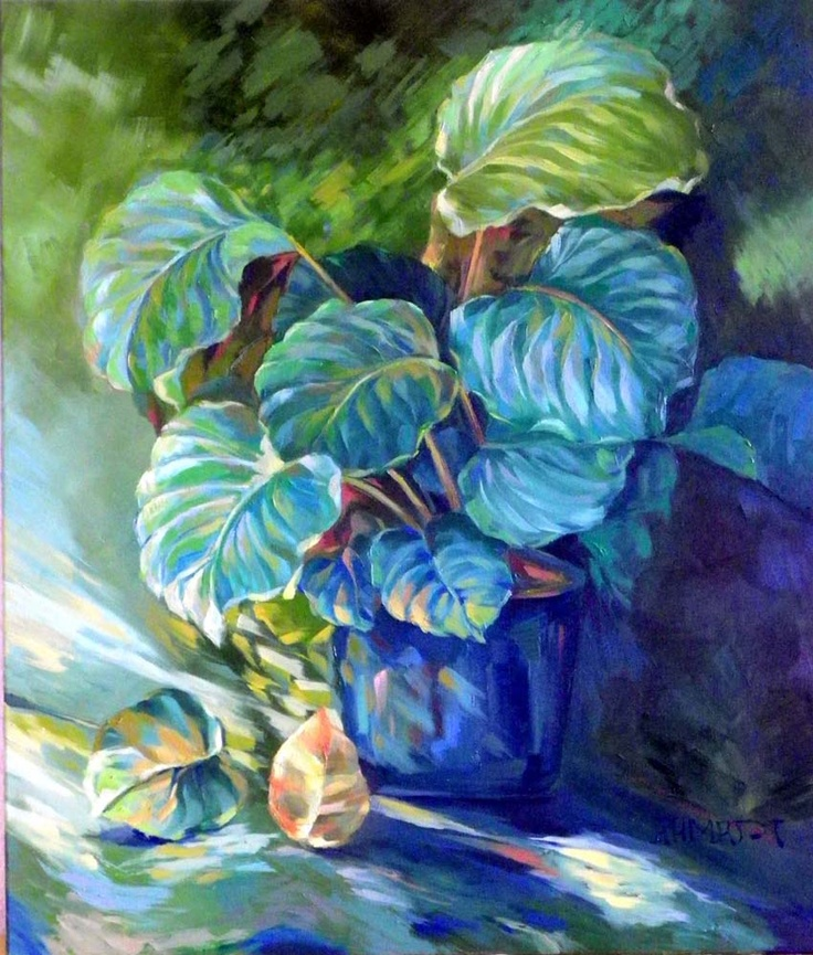 light in Vase  60x80 oil on canvas