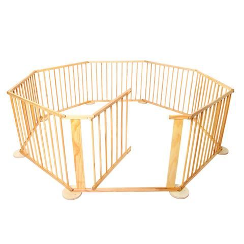 Baby Natural Wooden Playpen - LetsElude