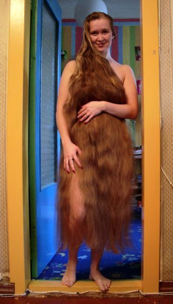 Woman with Very Long Hair - What do you think about super long hair? Cut it or keep it?