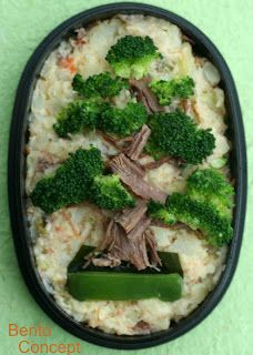 Now THAT is some creative food presentation!  Love it! Japanese Bonsai Tree Bento by Diana