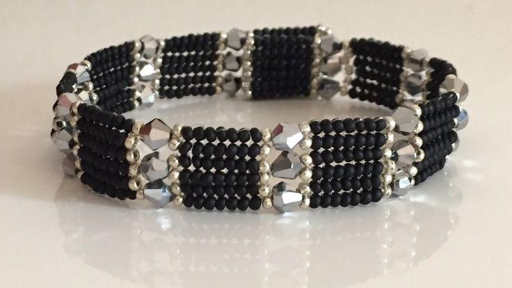 Herringbone Easy Bracelet -Herringbone Kolay bileklik Kristalli (üçlü ) - YouTube