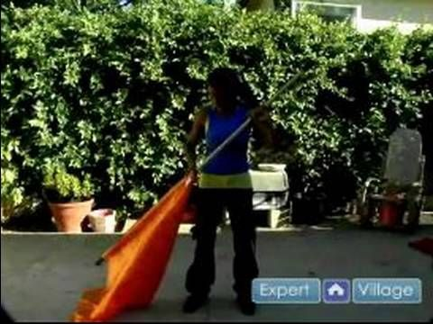 Color Guard Moves & Techniques : Singles in Color Guard Flag Routines