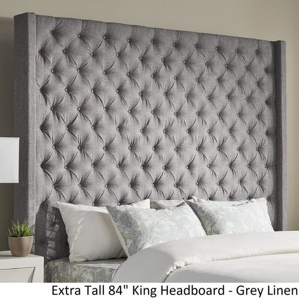 Extra Tall King Size Headboard And Bed Frame For Sale In Los Angeles Ca Offerup Tall Headboard Gray Upholstered Headboard Headboard
