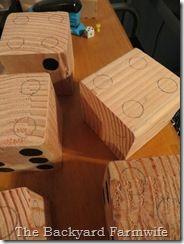 lawn dice - The Backyard Farmwife (for Yatzee or Farkle) AWESOME gift idea!